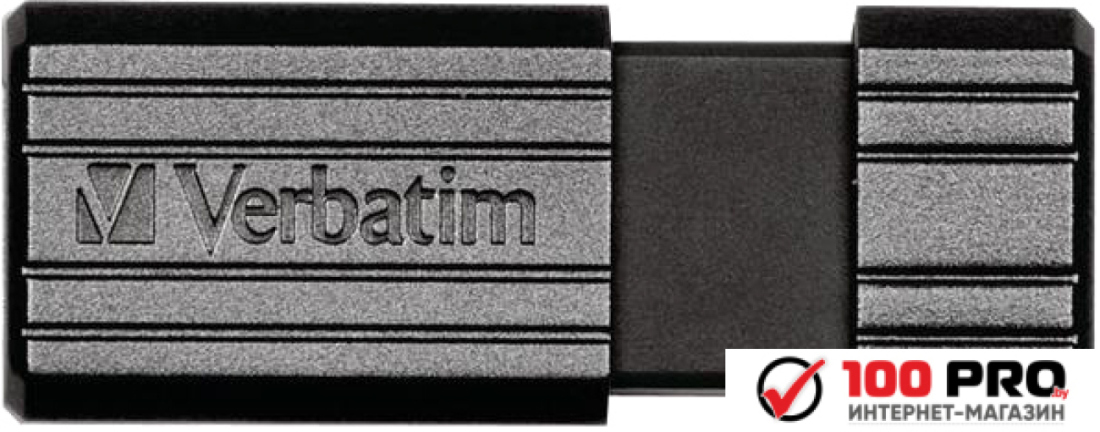 USB Flash Verbatim PinStripe черный 64 GB (49065)